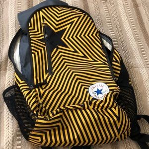 Converse yellow and black backpack